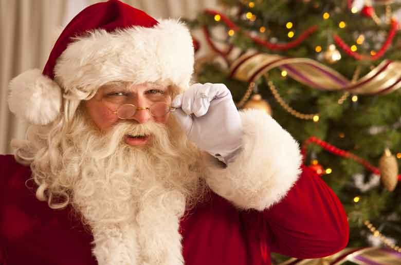 Le père Noël à domicile