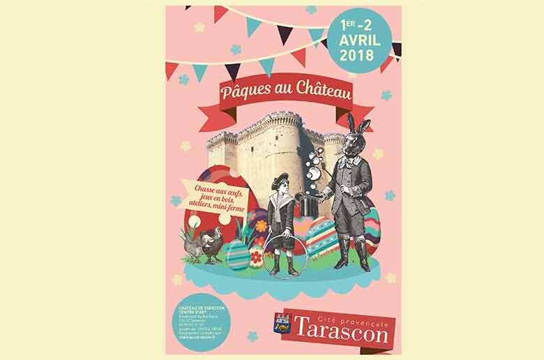 Chasse aux oeufs de Pâques au château de Tarascon