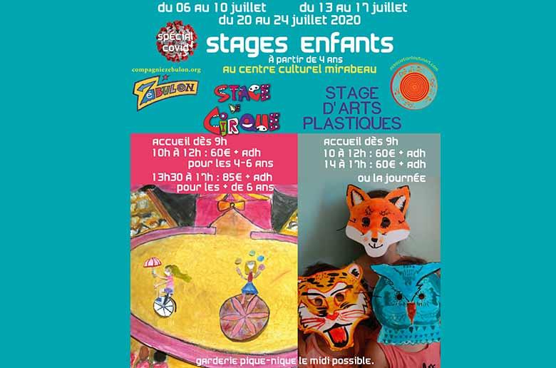 Compagnie Zébulon - Stage cirque et arts plastiques