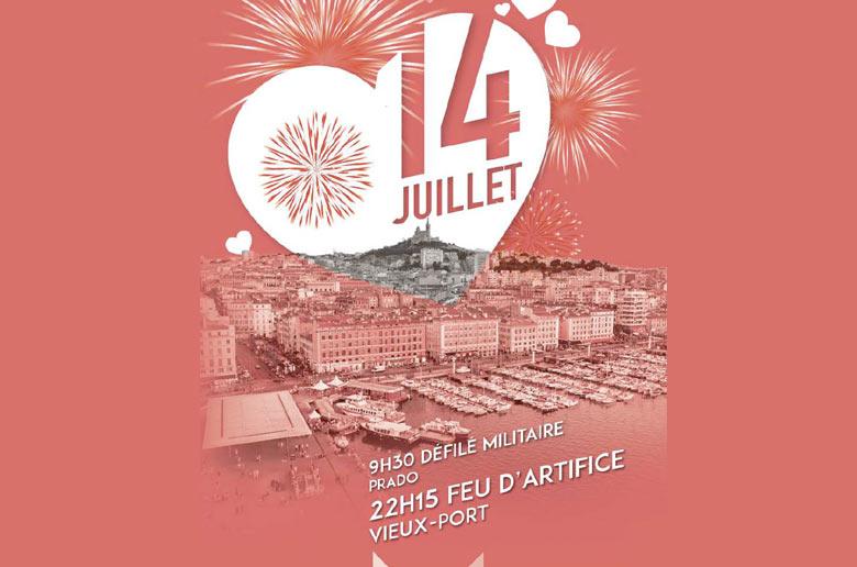 Fête nationale du 14 juillet 2018 à Marseille