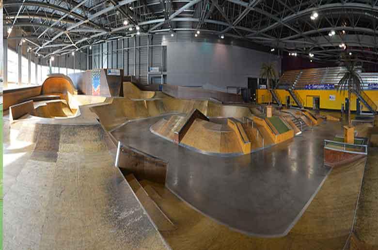 Le skatepark du Palais Omnisport de Marseille