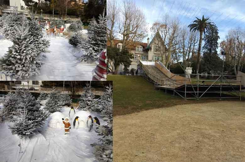 De la luge au parc de Bagatelle à Marseille !
