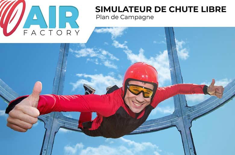 AIR FACTORY premier simulateur de chute libre dans les Bouches du Rhône