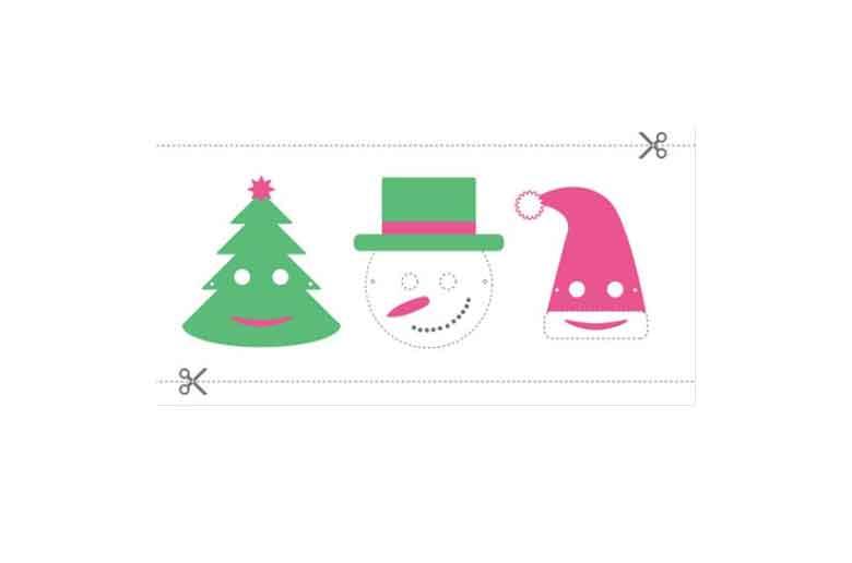 Atelier masque de Noël, invente ton drôle de personnage !